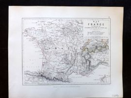 Alison & Johnston 1852 Battle Map of France, Campaigns of 1795